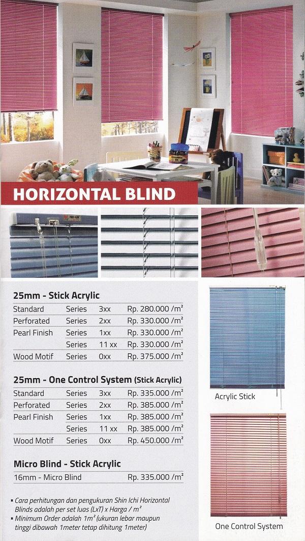hrga horizontal blind shinichi makassar